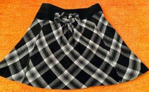 Damen Rock Wolle Winter Gr.40 Schwarz/Grau von Lisa Campione