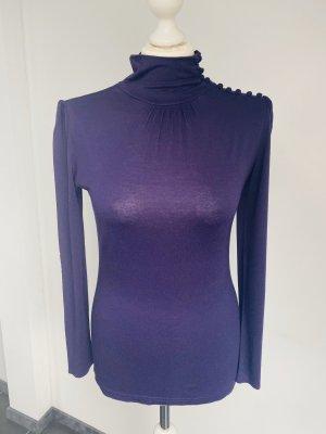 H&M Camisa de cuello de tortuga violeta oscuro