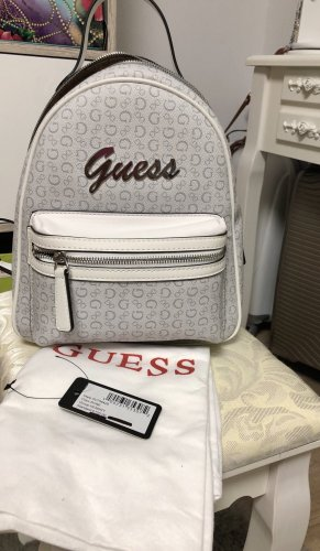 Guess School Backpack white-silver-colored
