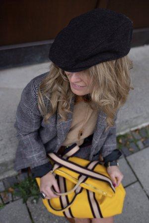 Borse in Pelle Italy Laptop rugzak geel Leer