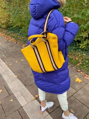 Borse in Pelle Italy Zaino laptop giallo Pelle