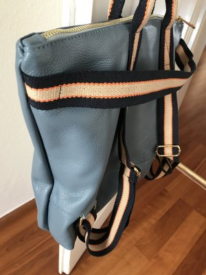 Borse in Pelle Italy Laptop Backpack neon blue leather