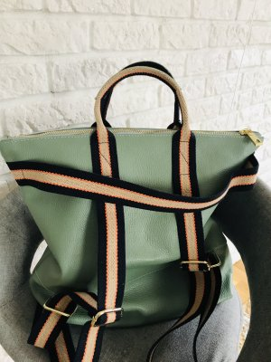 Börse in Pelle Laptop Backpack lime-green leather