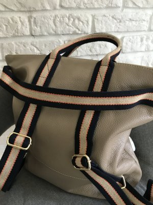 Borse in Pelle Italy Laptop Backpack cream leather