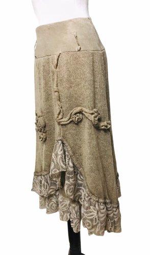 Asymmetry Skirt light brown
