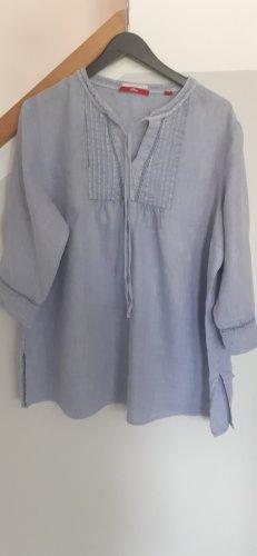 s.Oliver Linen Blouse azure linen