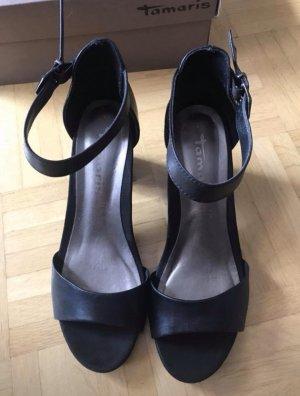 Damen Sandale mit Knöchelriemchen von TAMARIS, Gr. 37, Echtleder