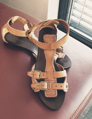 Burberry Roman Sandals light brown leather