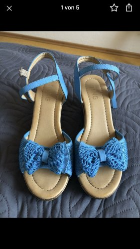 Outdoor Sandals blue imitation leather