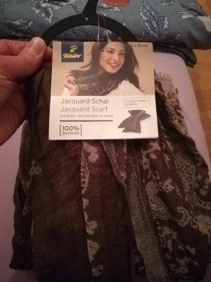 Tchibo / TCM Bufanda de lana marrón claro-beige
