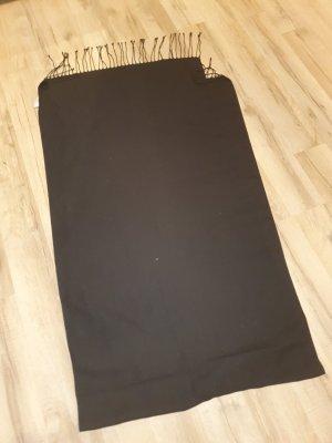 Alba Moda Écharpe en tricot noir