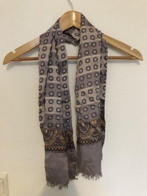 Zijden sjaal lichtgrijs-grijs-bruin