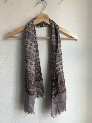 Bufanda de seda marrón claro-marrón grisáceo