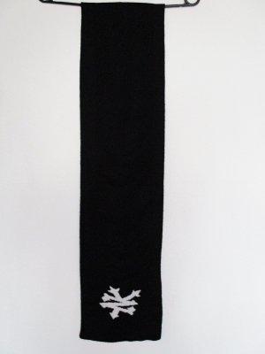 Gebreide sjaal zwart-wit