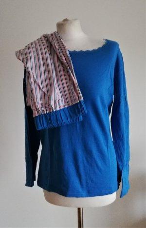 Damen Schlafanzug mit Streifen in Blau