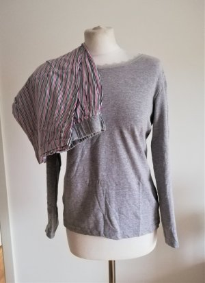 Damen Schlafanzug mit Streifen in Grau