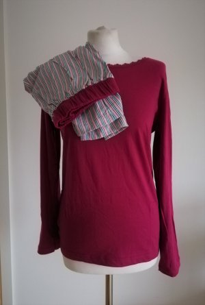Damen Schlafanzug mit Streifen in Pink
