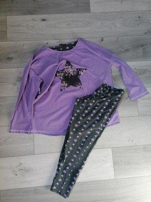 bpc Pyjama anthracite-grey violet