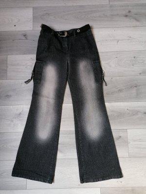 Rita Fink Jeans flare gris-gris foncé