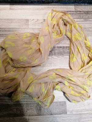 Ohne Tube Scarf beige-neon yellow