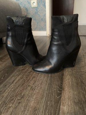 Bazar deluxe Zipper Booties black leather