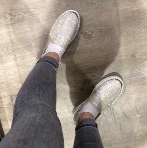 Zapatos Mary Jane blanco-gris claro