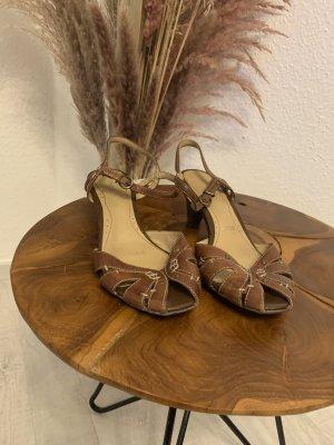 Janet D Lace-up Pumps brown