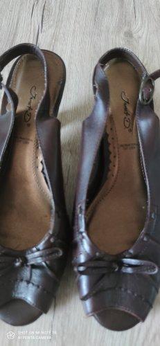 Wedge Pumps dark brown