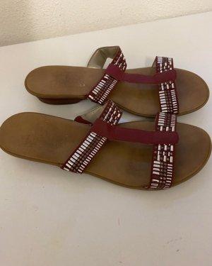 Rieker Roman Sandals brown-carmine