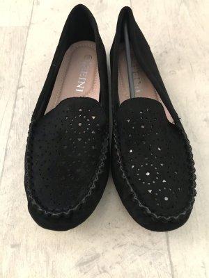 Zapatos sin cordones negro