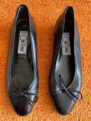 Damen Schuhe Leder Ballerina Gr.39,5 in Schwarz von Donna Carolina NW