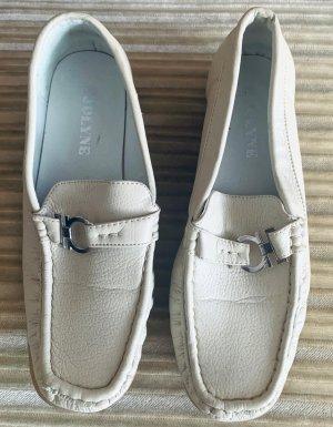 Damen Schuhe Leder Mokassins Gr.38 in Beige von Jolyne