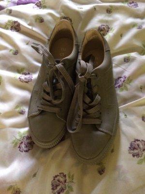 Esprit Sznurowane buty szary-srebrny