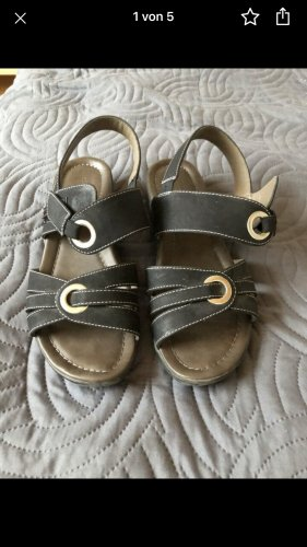 Outdoor Sandals black imitation leather