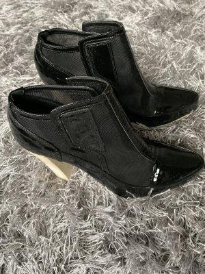 Damen Schuhe Schtiefeletten JOOP Jeans, Gr. 35,5, Lack, wie neu