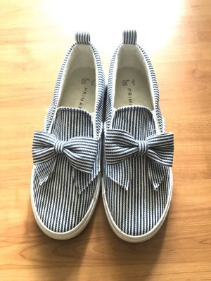 Primark Scarpa slip-on bianco-blu scuro