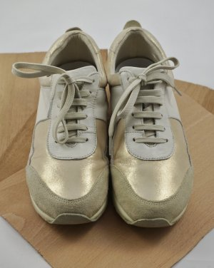 Aerosoles Sneakers met veters goud Leer