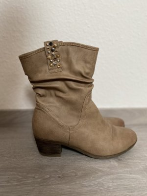 Boots western chameau-beige