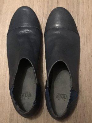 Scarpa business grigio ardesia-petrolio Pelle