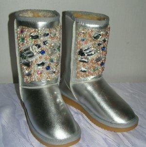 Unbekannte Marke Botas de nieve color plata Poliéster