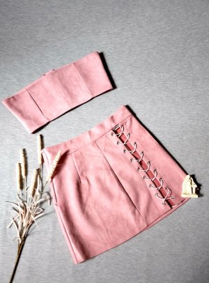 Woven Twin Set rose-gold-coloured