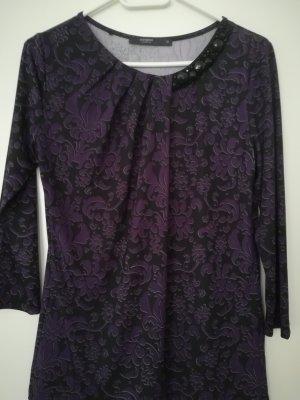 Manguun Chemise côtelée noir-violet