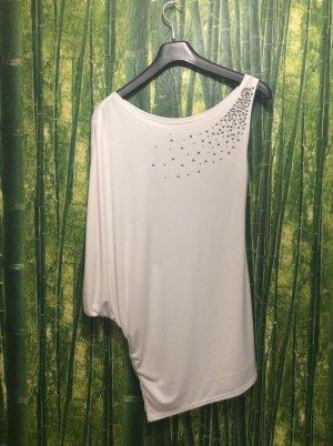 Fabrique en france Camisa de un solo hombro blanco Poliéster