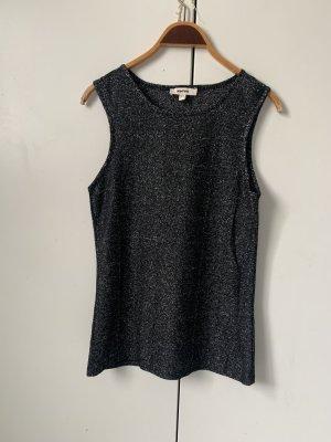 Koton Siateczkowa koszulka czarny-srebrny