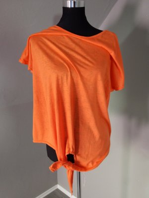 Wraparound Shirt neon orange-gold orange