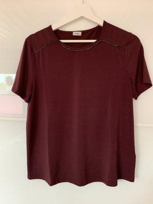 Damen Shirt Brombeer Bordeaux Gr. XS-S