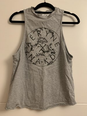 Damen Shirt, Grau, Na-KD, Größe M, Kurzarm