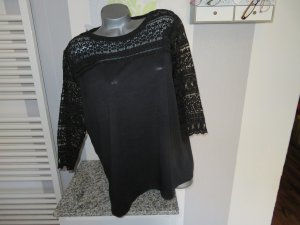 Yessica Top à manches longues noir polyester