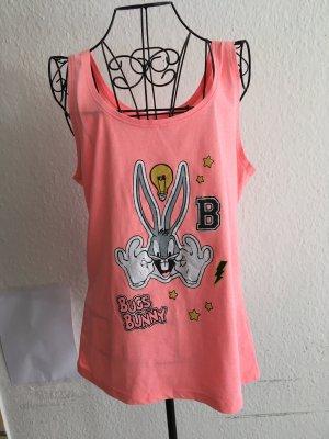 Looney Tunes Camisa de tirantes para hombres albaricoque