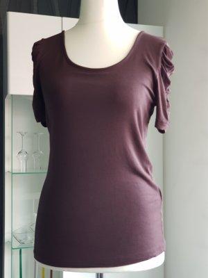 Damen-Shirt kurzer Arm Braun Größe M